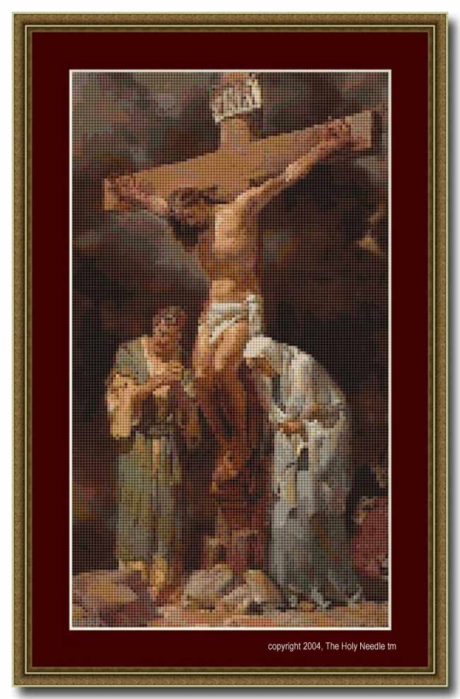 Cross Stitch Pattern - PDF - Crucifixion : El Camino Real