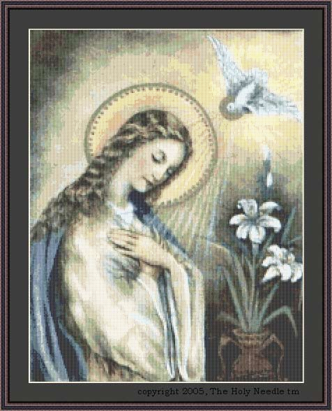 Language In 45 And 47 Stella Street: Blessed Virgin Mary-Cross Stitch : El Camino Real